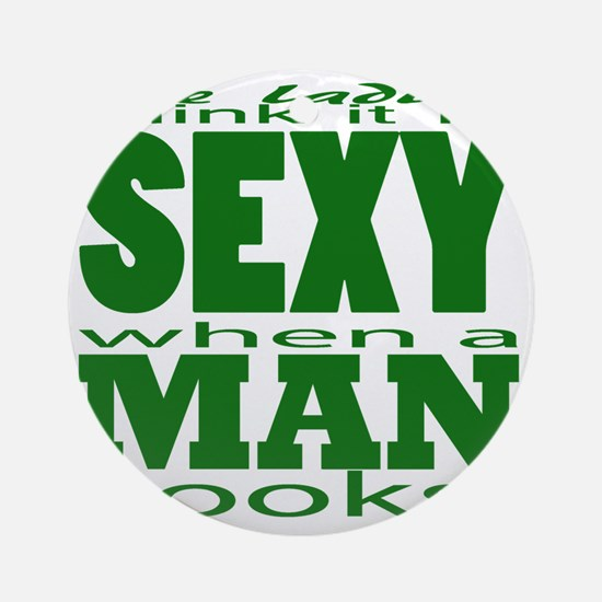 Sexy Man Green Round Ornament