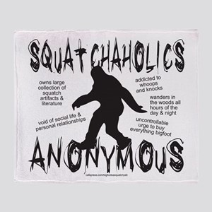 SQUATCHAHOLICS ANONYMOUS Throw Blanket