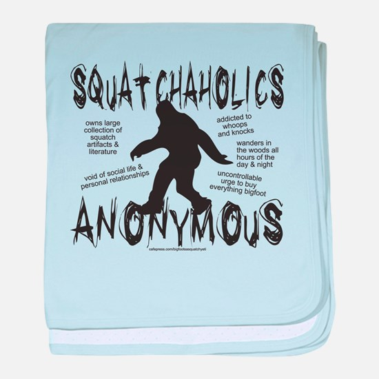 SQUATCHAHOLICS ANONYMOUS baby blanket