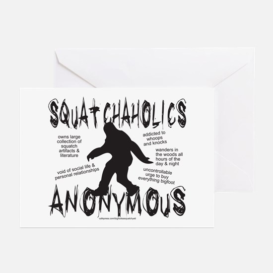 SQUATCHAHOLICS ANONYMOUS Greeting Cards (Pk of 10)