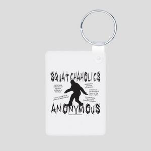SQUATCHAHOLICS ANONYMOUS Aluminum Photo Keychain