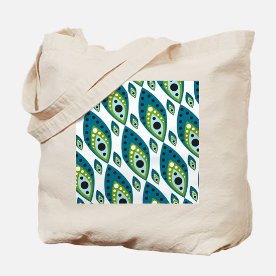 Pretty Feather Blue Green Tote Bag