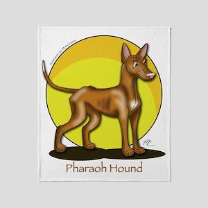 Pharaoh Hound Illustration Throw Blanket
