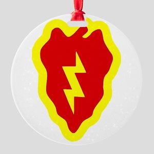 25Th ID Round Ornament