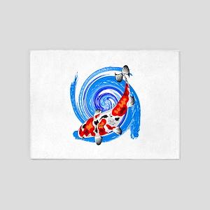 BLUE DRIFTING 5'x7'Area Rug