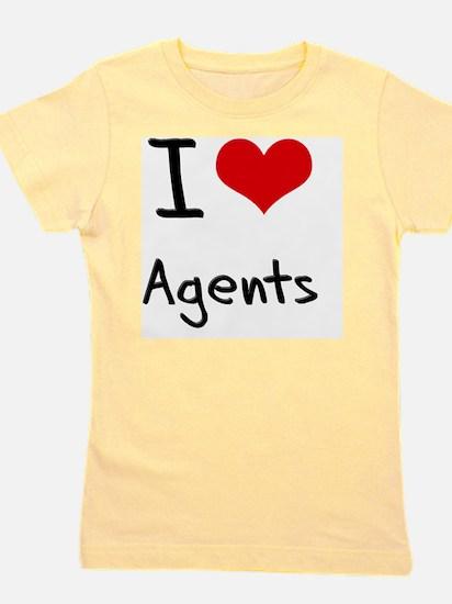 I love Agents Girl's Tee