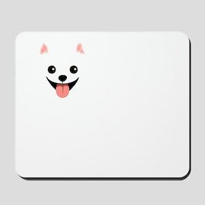 whtpompoofball Mousepad