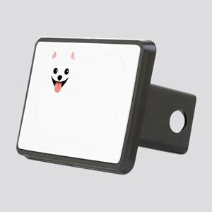 whtpompoofball Rectangular Hitch Cover