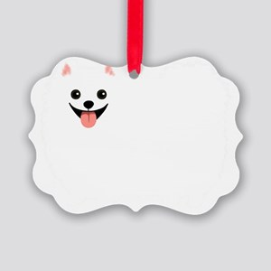 whtpompoofball Picture Ornament