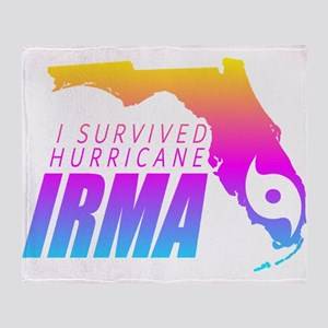 I Survived Hurricane Irma Throw Blanket