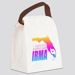 I Survived Hurricane Irma Canvas Lunch Bag