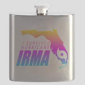 I Survived Hurricane Irma Flask
