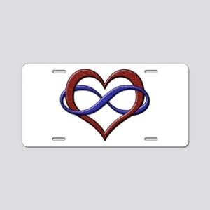 Polyamory Pride Designs Aluminum License Plate