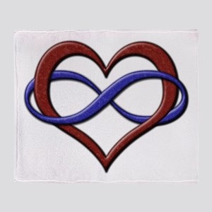 Polyamory Pride Designs Throw Blanket