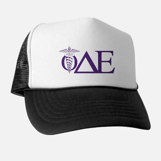Phi Delta Epsilon Logo Letters Trucker Hat
