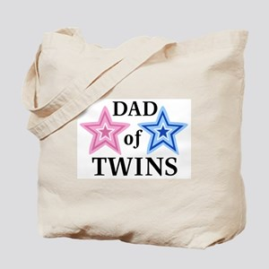 Dad of Twins (Girl, Boy) Tote Bag