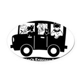 Rescue transport Oval Car Magnets