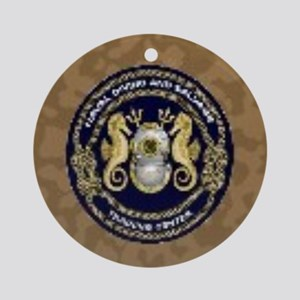 US Navy Diver Round Ornament