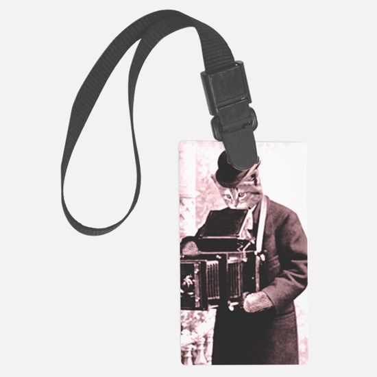 Photography cat Luggage Tag