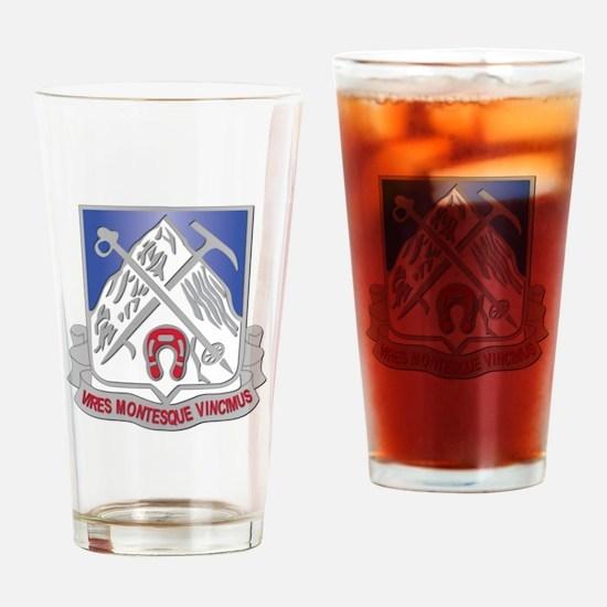 DUI - 2nd Bn - 87th Infantry Regiment Drinking Gla