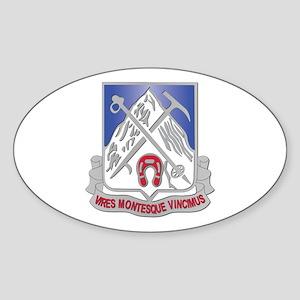 DUI - 2nd Bn - 87th Infantry Regiment Sticker (Ova
