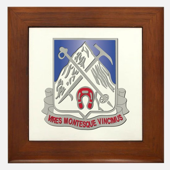 DUI - 2nd Bn - 87th Infantry Regiment Framed Tile