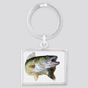 walleye turn Landscape Keychain