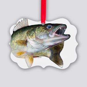 walleye turn Picture Ornament