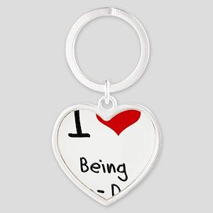 I love Being Tone-Deaf Heart Keychain