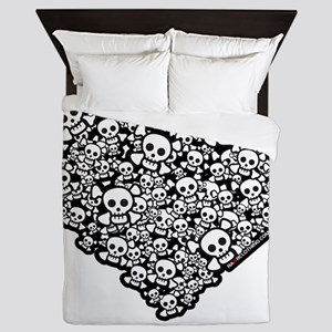 Emo Skull Heart Queen Duvet