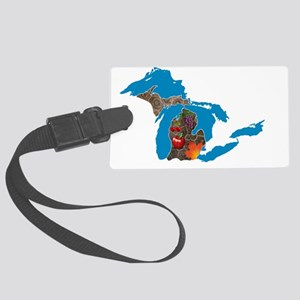 Great Lakes Michigan Harvest Large Luggage Tag