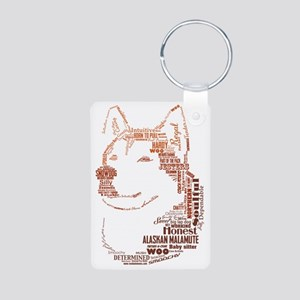 Malamute Words Aluminum Photo Keychain