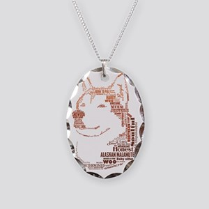 Malamute Words Necklace Oval Charm