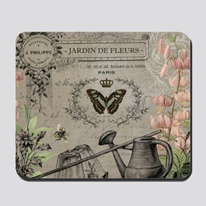 Vintage French Watering can Mousepad