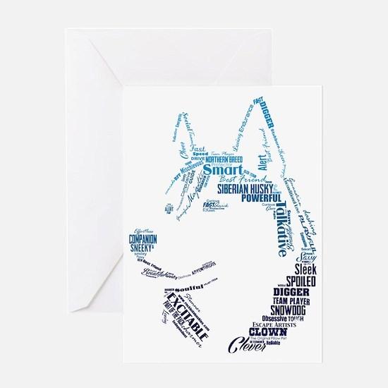 Husky Words Greeting Card