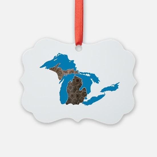 Great lakes Michigan petoskey sto Ornament