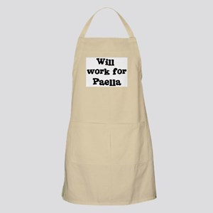 Will work for Paella BBQ Apron