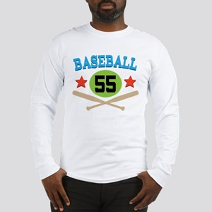 Baseball Player Number 55 Long Sleeve T-Shirt