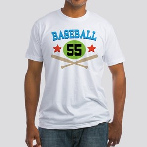 Baseball Player Number 55 Fitted T-Shirt