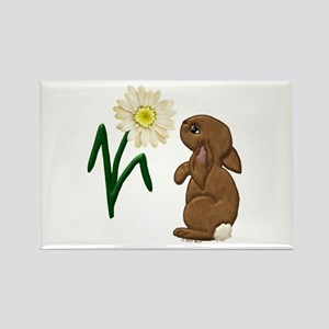Spring Bunny Rectangle Magnet