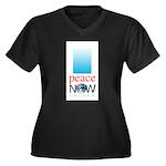 Peace Now Women's Plus Size V-Neck Dark T-Shirt