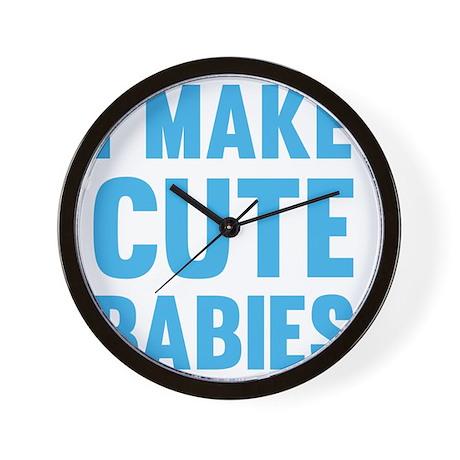 MakeCuteBabies1C Wall Clock