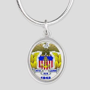 USMMA Silver Oval Necklace
