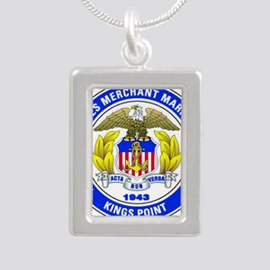 USMMA Silver Portrait Necklace