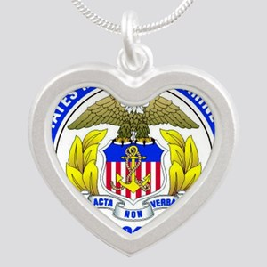 USMMA Silver Heart Necklace