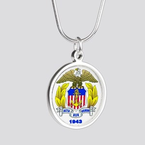 USMMA Silver Round Necklace