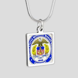 USMMA Silver Square Necklace
