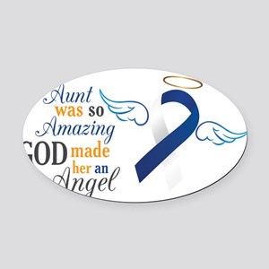 My Aunt An Angel – Oval Car Magnet