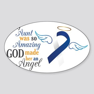 My Aunt An Angel – Sticker (Oval)