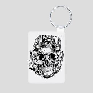 Aviator Skull Aluminum Photo Keychain